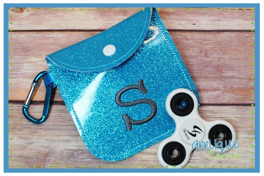 Applique corner fidget spinner case in the hoop design new hobby