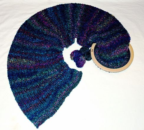 Ravelry The Fiona Shawl Loom Knitted Pattern By Helen Jacobs