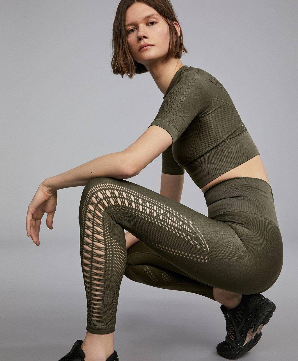 8d6b0f4491567 Legging sans coutures loose knit - Leggings - Gym & Training - Par Sport -  OYSHO