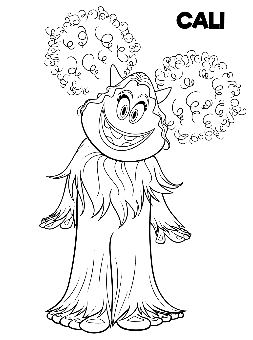 bigfoot presents coloring pages - photo#25