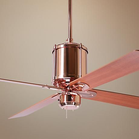 Stunning Ceiling Fan Design Featuring A Polished Copper Finish