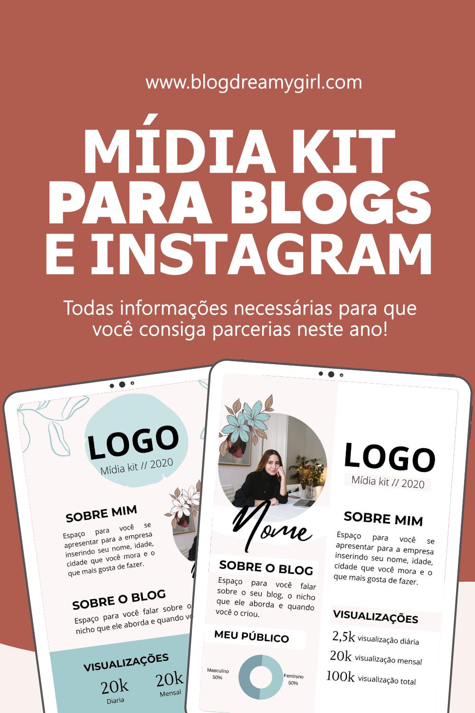 Template editável de mídia kit para blogs e Instag...