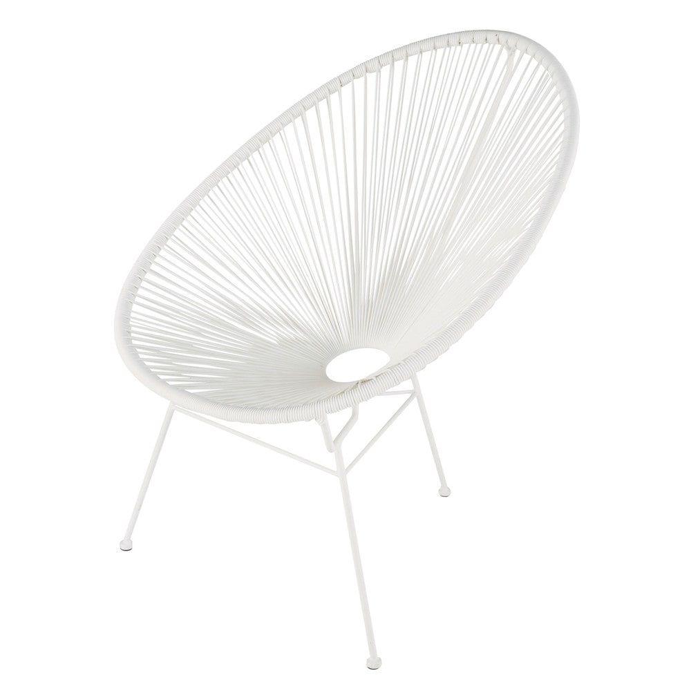 Fauteuil de jardin rond blanc | jardin | Garden chairs, Garden ...
