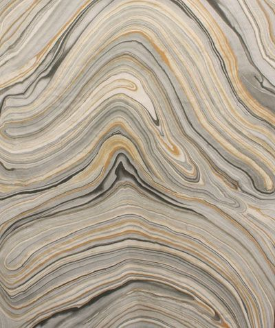 Agate Graphite A Stunning Marble Fabric In Warm Honey