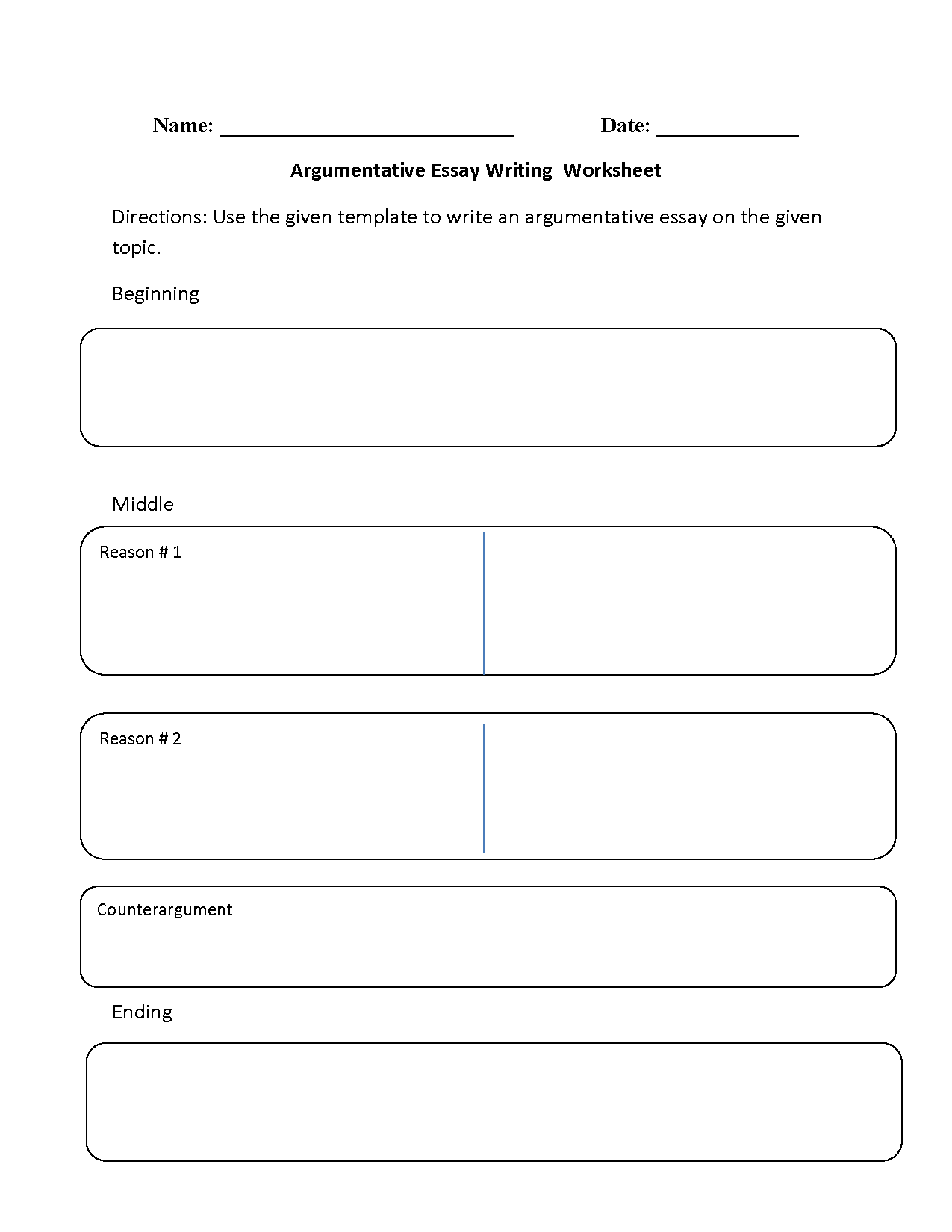 Argumentative Essay Writing Worksheet Outline Argument Against Capital Punishment Pro For