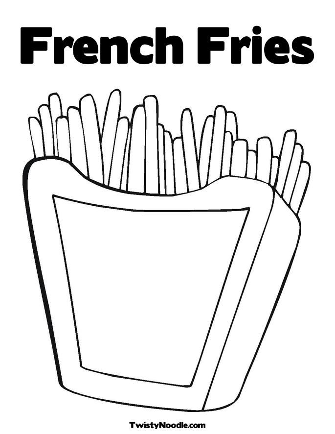 French Fries Coloring Pages High Quality Coloring Pages Food Coloring Pages Donut Coloring Page Coloring Pages
