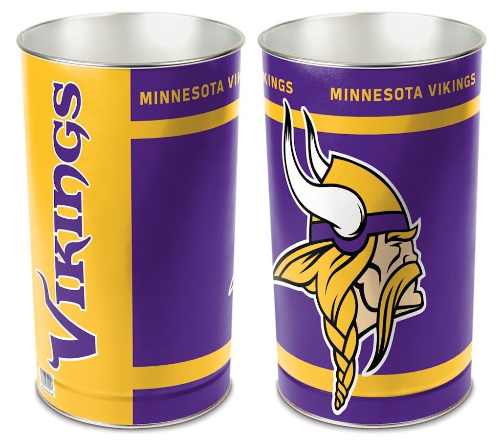 Minnesota Vikings 15 Waste Basket Minnesota Vikings Vikings Waste Basket