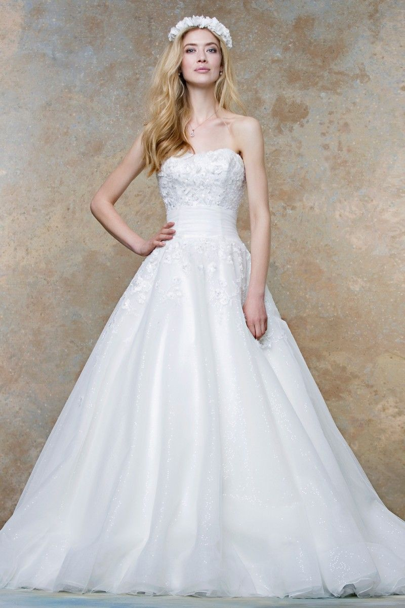 Lace u organza ballgown style champagne dress pinterest
