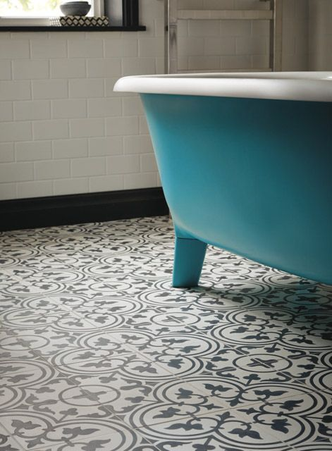 audrey bath painted in south bank with toulouse pont neuf floor tiles. Black Bedroom Furniture Sets. Home Design Ideas