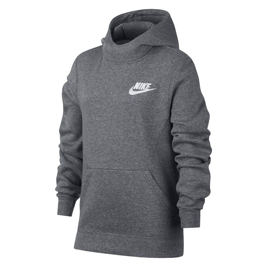 Boys 820 Nike Club Pullover Hoodie, Grey Pullover