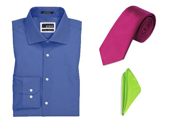 A Shirt Tie And Pocket Square The Colors Are In A Triad