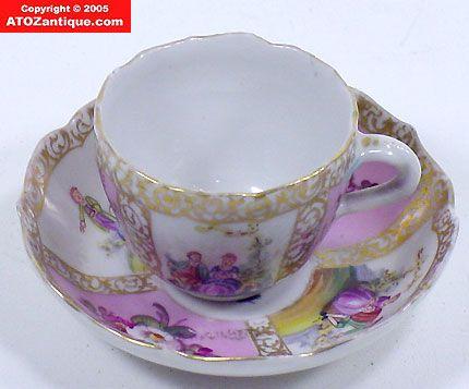 Meissen / Dresden Miniature Cup & Saucer ?