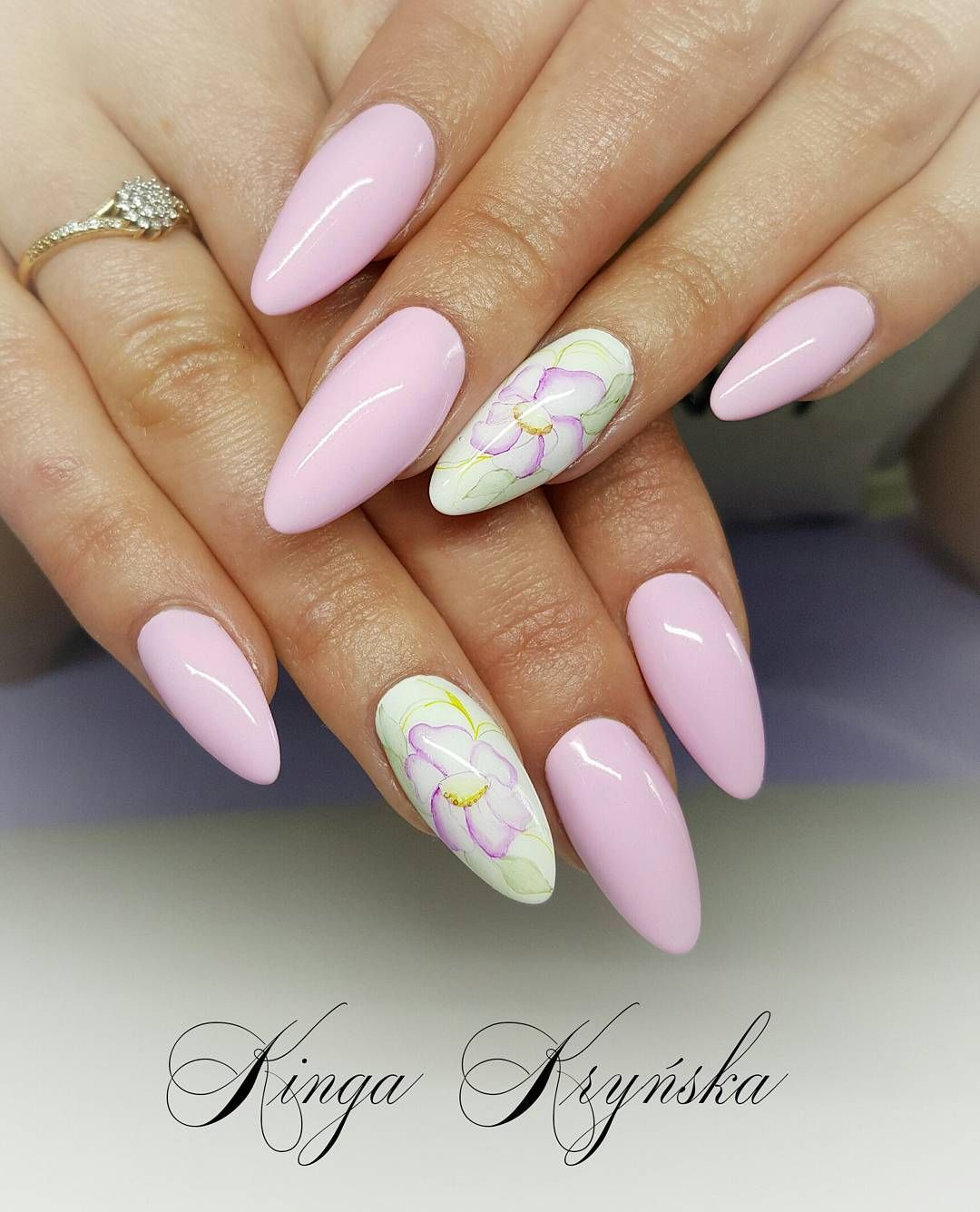 Aquarelle Nails Naildesign Indigonails Nailfashion Nailpolish