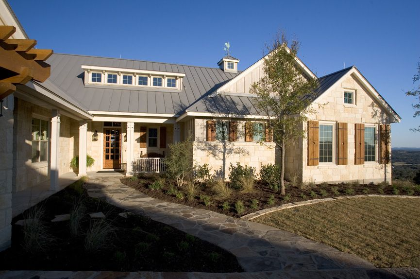 Home exterior gallery authentic custom homes hill for Texas hill country homes