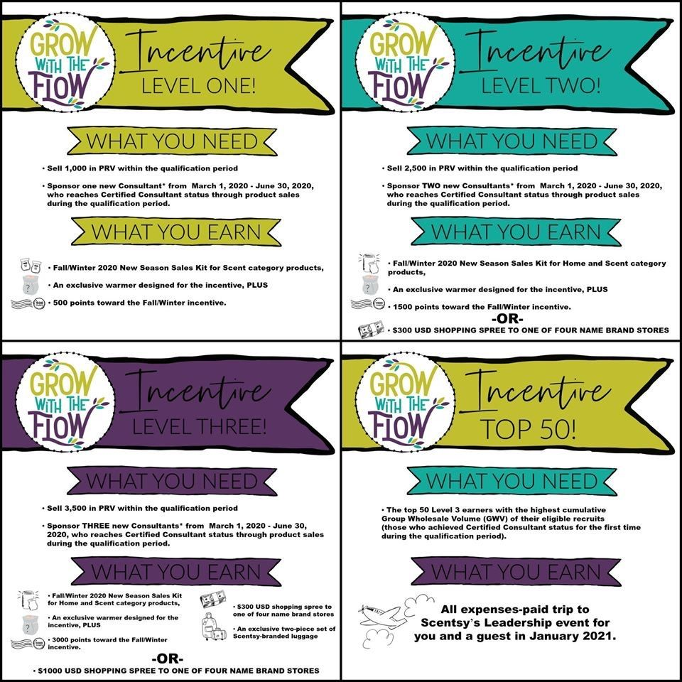 """Scentsy """"Grow with the Flow"""" Incentive Trip 2020 for"""
