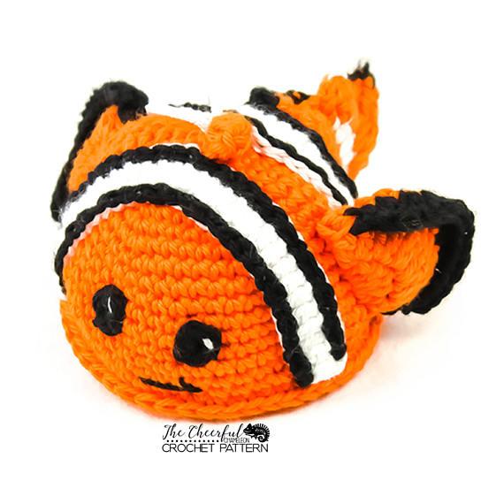 Clown Fish Crochet Pattern Clown Fish Pattern Bath Toy Pattern