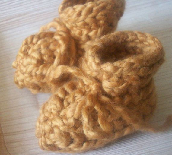 Organic Cotton Baby Shoes in Morrocan Spice 0 by bipolarboutique, $13.00