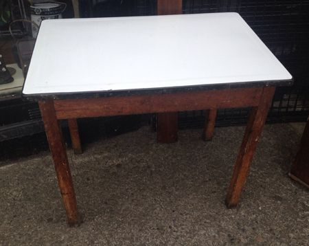 old enamel top pine table tables of all kinds pinterest pine rh pinterest ca 1950 Enamel Tables Antique Enamel Top Kitchen Table