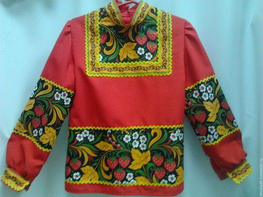 6fa86e2f866 Детские карнавальные костюмы ручной работы. Ярмарка Мастеров - ручная работа.  Купить Рубашка Хохлома №3. Handmade. Ярко-красный