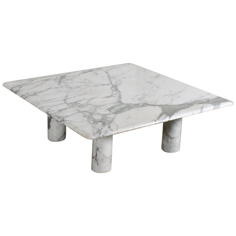 Large Angelo Mangiarotti Carrara Marble Coffee Table For Up Up Italy 1970s In 2020 Coffee Table Furniture Marble Coffee Table