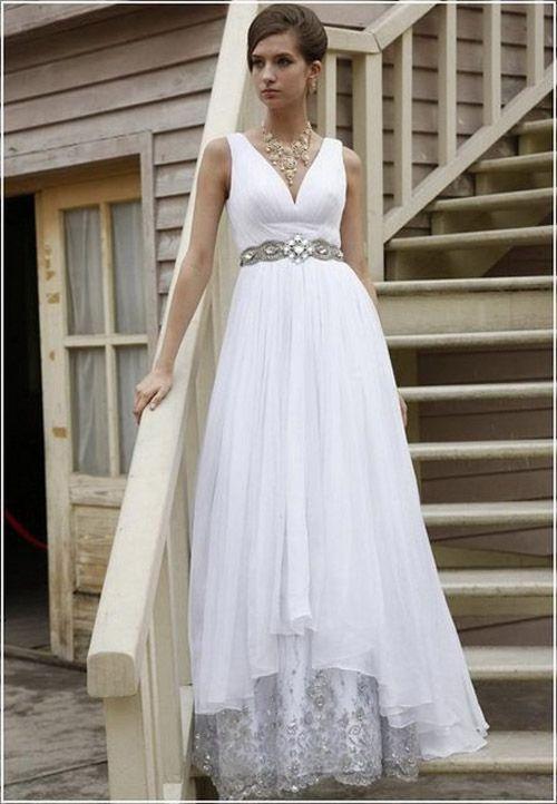 traje de novia corte imperio falda campana - Buscar con Google ...