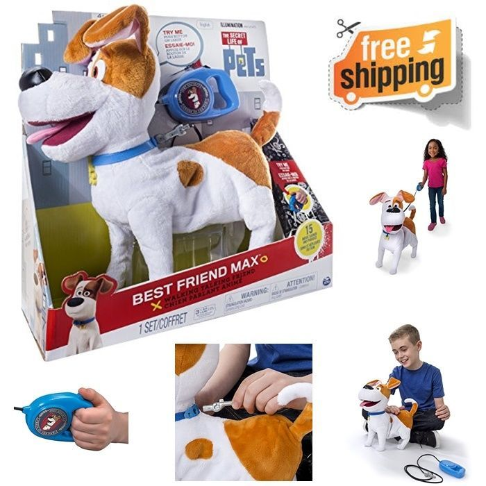 The Secret Life Of Pets Best Friend Max Walking Dog On Leash Kids Toy On Off New Spinmaster