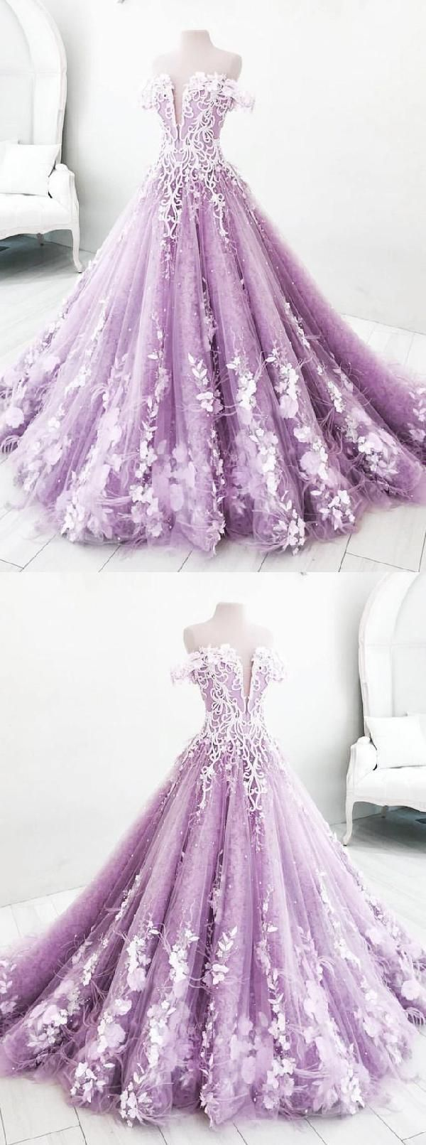 Morden Appliques Ball Gown#design #model #dress #shoes #heels
