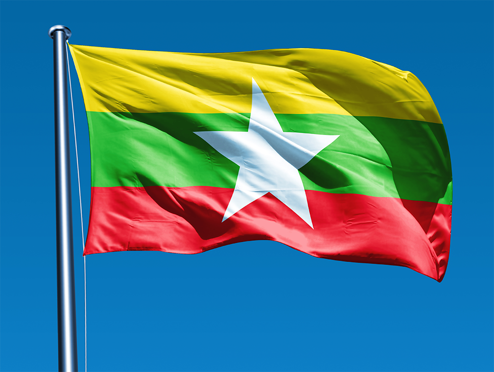 Image result for myanmar flag