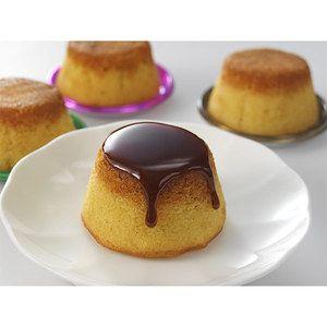 しっとりケーキにカラメルソースをかけて。【焼きプリンケーキ】