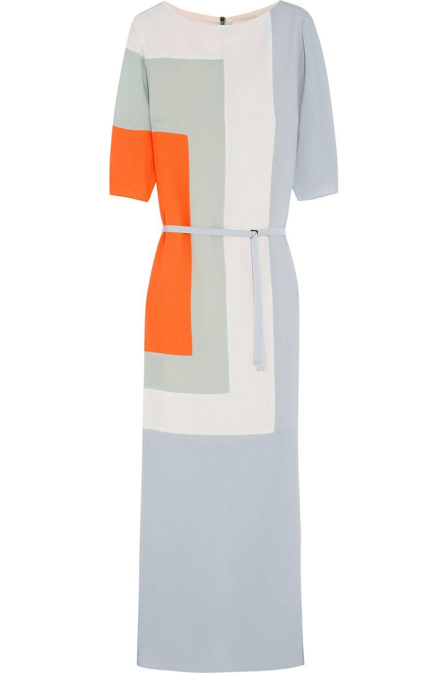 Roksanda ilincic colorblock woolcrepe gown netaportercom