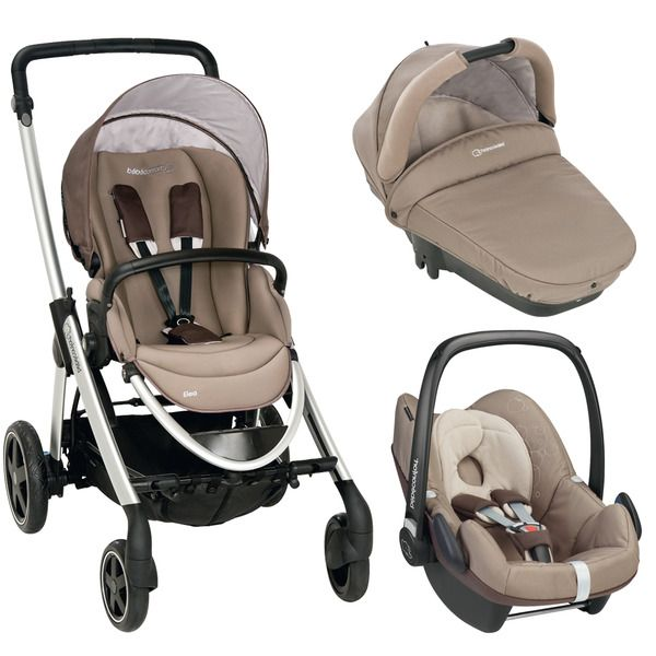 69ac16c1e Coche de Paseo Trio Bébé Confort Pack Elea Walnut Brown | Baby Gear ...