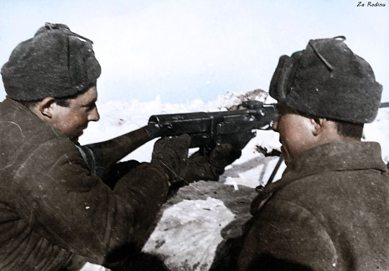 Soviet soldiers with PTRS
