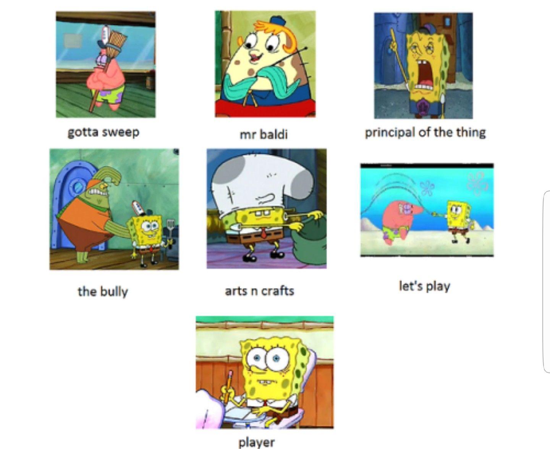 Spongebob Version Of Baldi Basic Education Basic Education