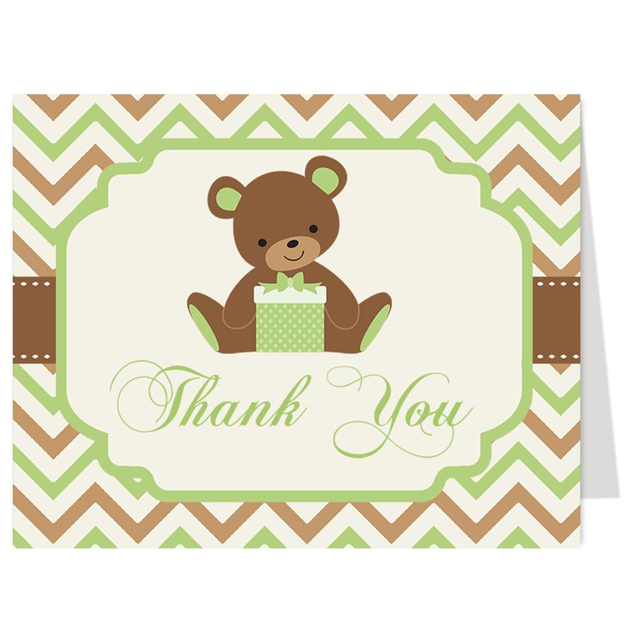 Chevron Teddy Bear Baby Shower Invitation | Teddy bear baby shower ...