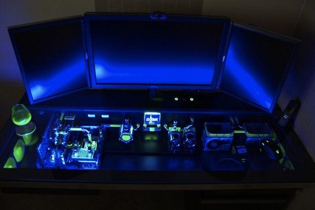 delighful cool computer desks for your gaming room decor corner