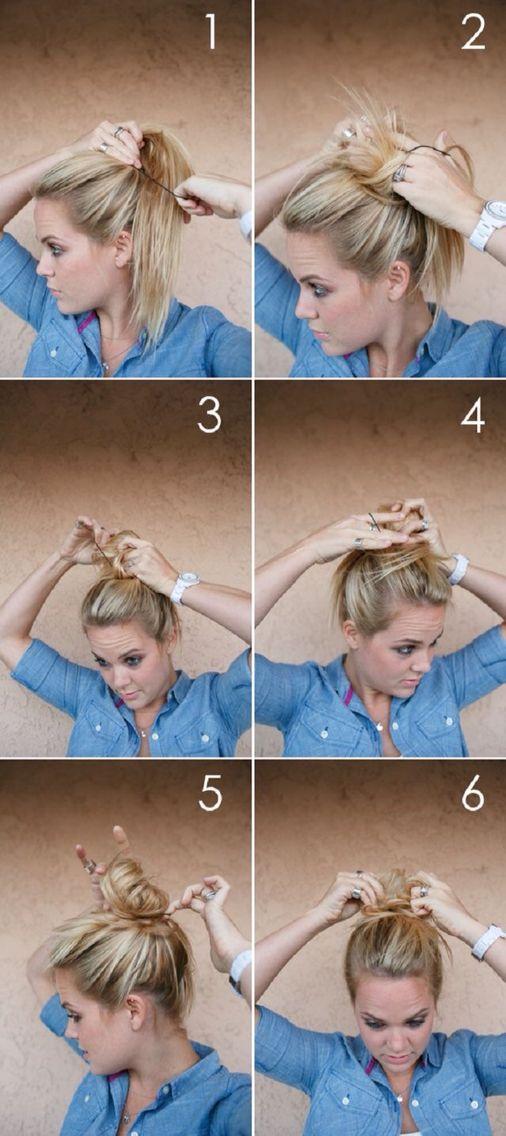 messy bun - hair styles