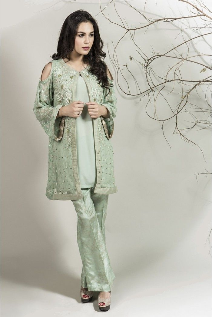 ef411fc72 Winter Party Wear Dresses by Maria B Stitched Collection 2018-2019 ...