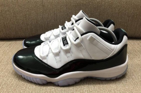 size 40 82585 839a0 Here's a new look at the Air Jordan 11 Low Emerald that is scheduled to  release on April