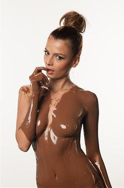 Girls naked pics covered in chocolate, hawaii topless models