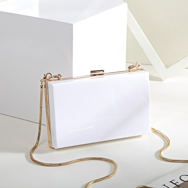 Womens Acrylic Evening Party Wedding Bag Clutch Shoulder Bags Handbags Purse