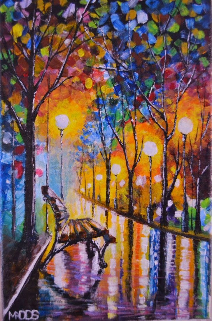 Autumn fall painting wallpaper leonid afremov loneliness of autumn autumn fall painting wallpaper leonid afremov loneliness of autumn voltagebd Image collections