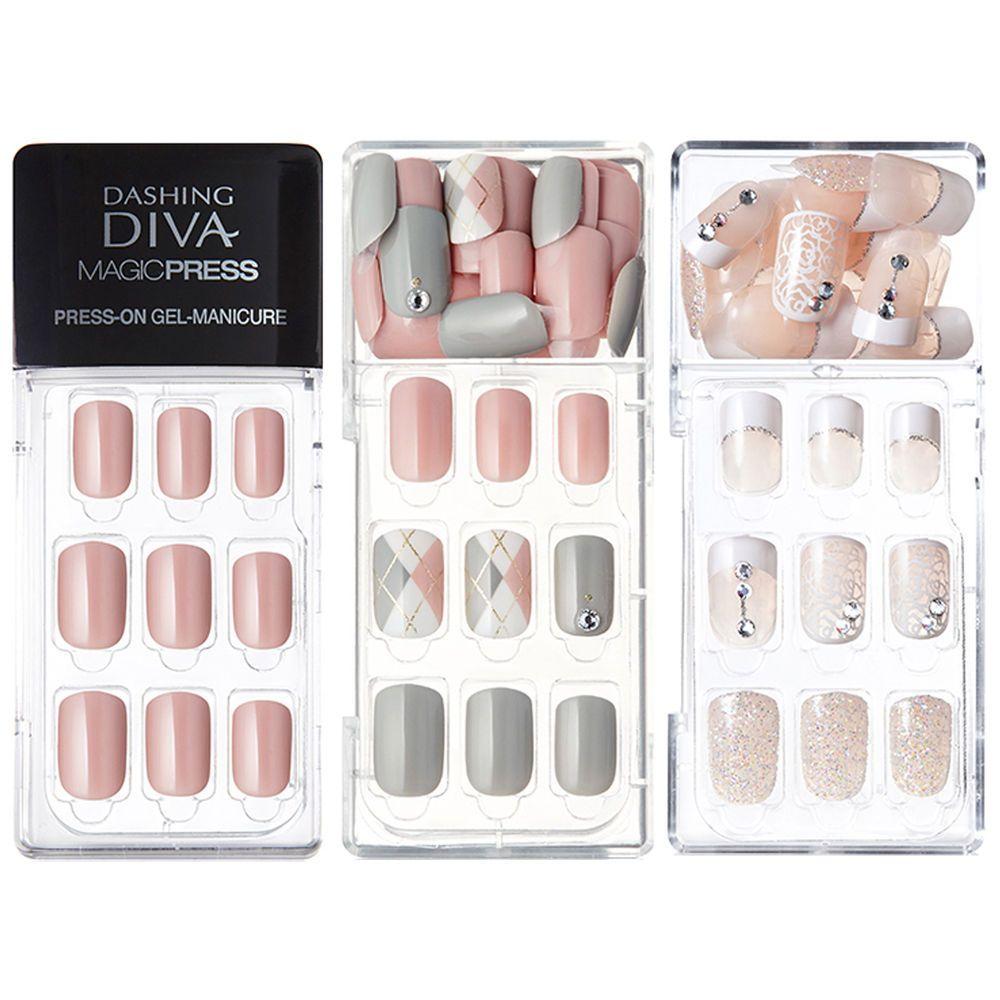 Dashing Diva Magic Press Self Gel Nail Art Polish 30 Tips Korea Cosmetic Dashingdiva