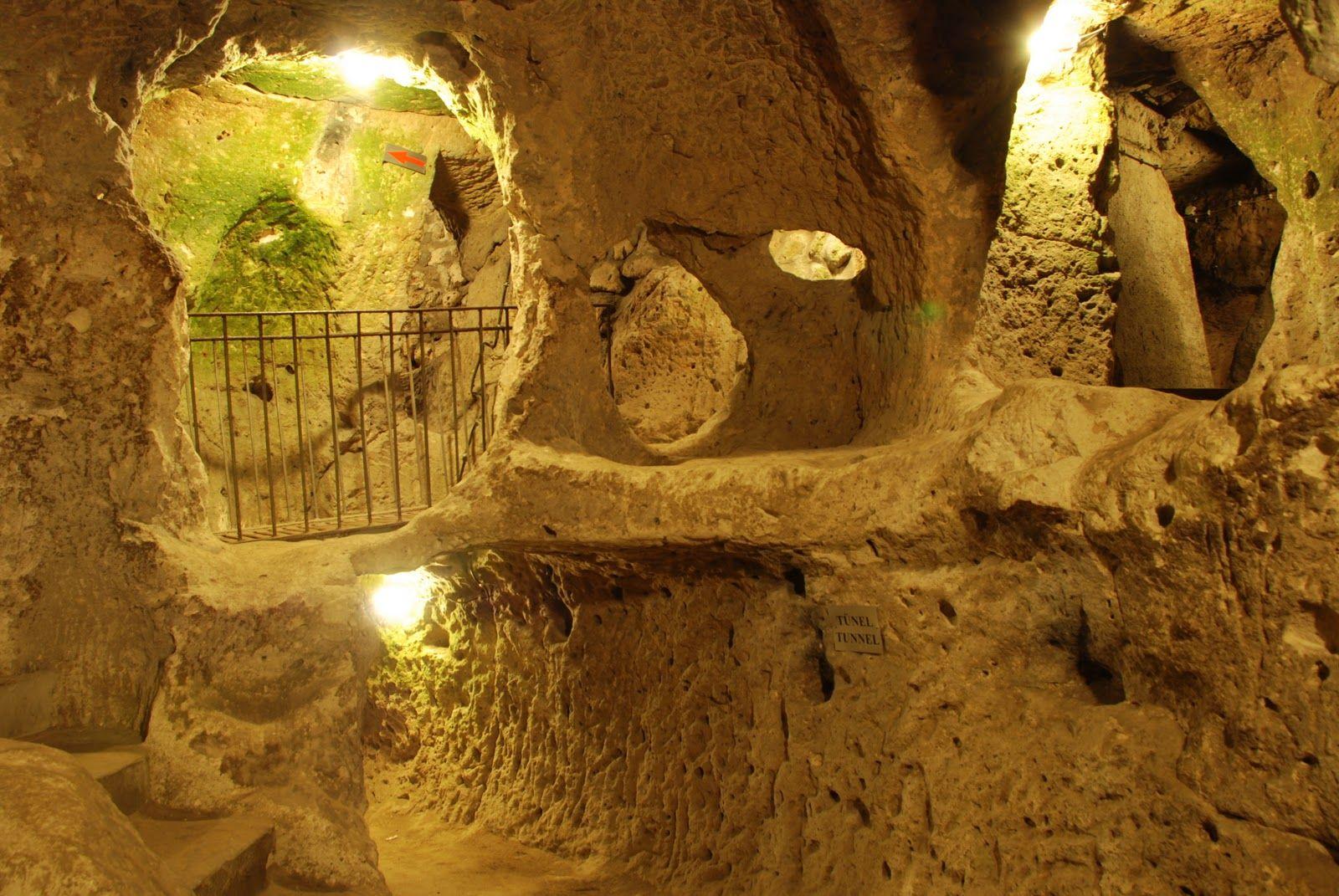 ผลการค้นหารูปภาพสำหรับ Underground City of Derinkuyu or Kaymakli