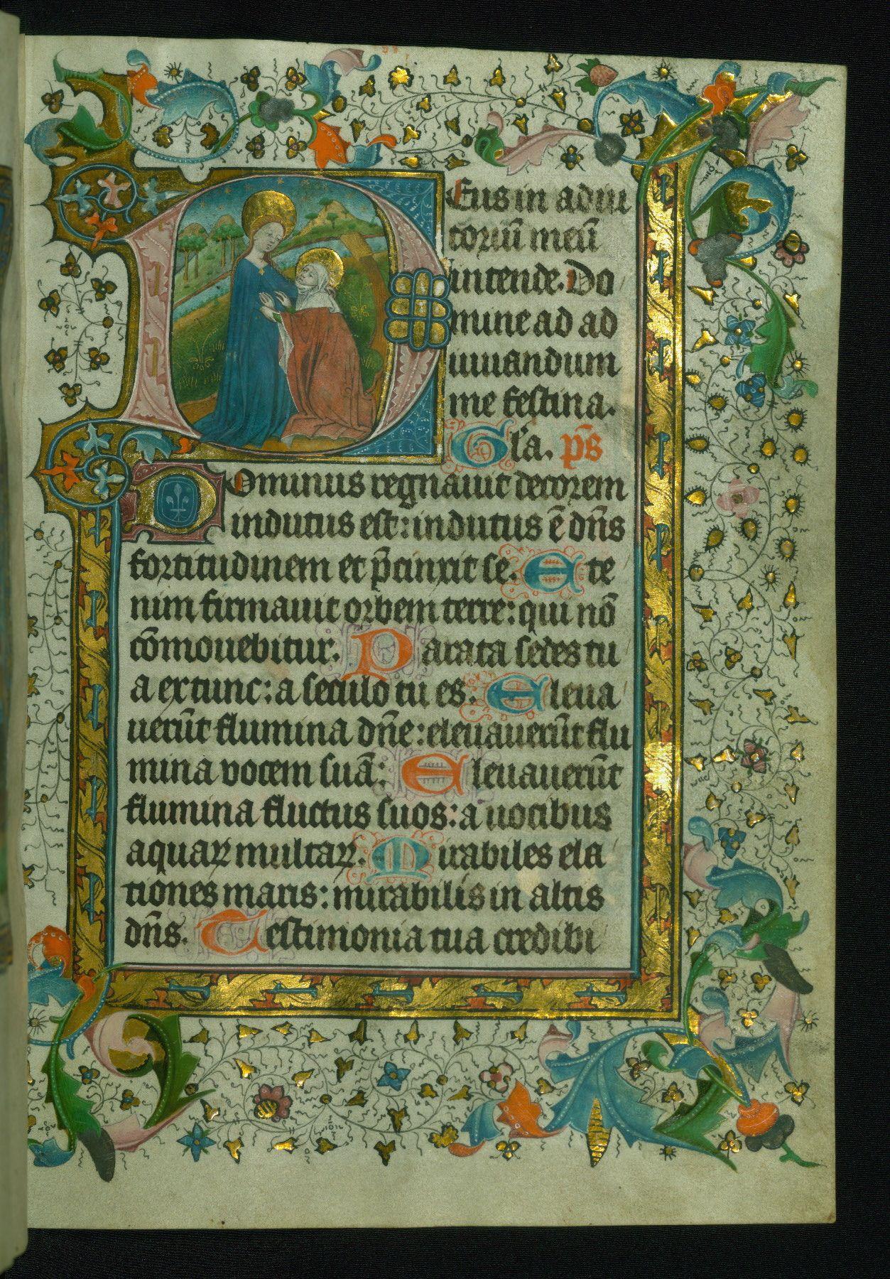 W.172, fol. 21r. Flanders, 1450-60.
