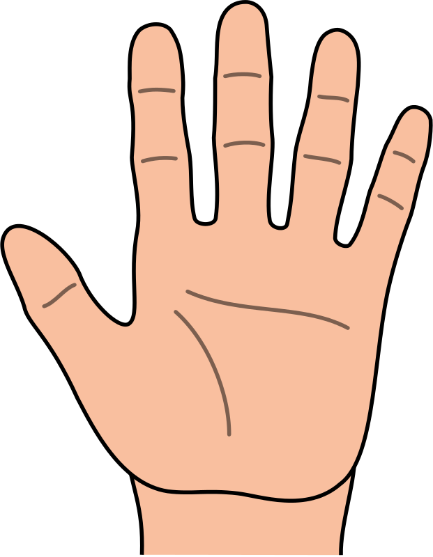 Hands Hand Outline Clipart Kid Hand Outline Teaching Mindfulness Cartoons Hd
