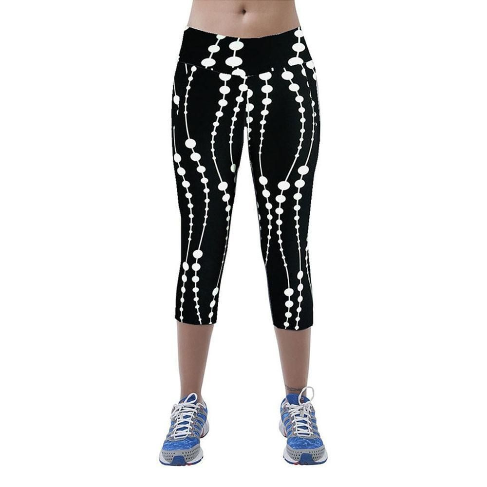 Cadmus Womens Leggings Capris High-Waist Yoga Pants w Side Pockets