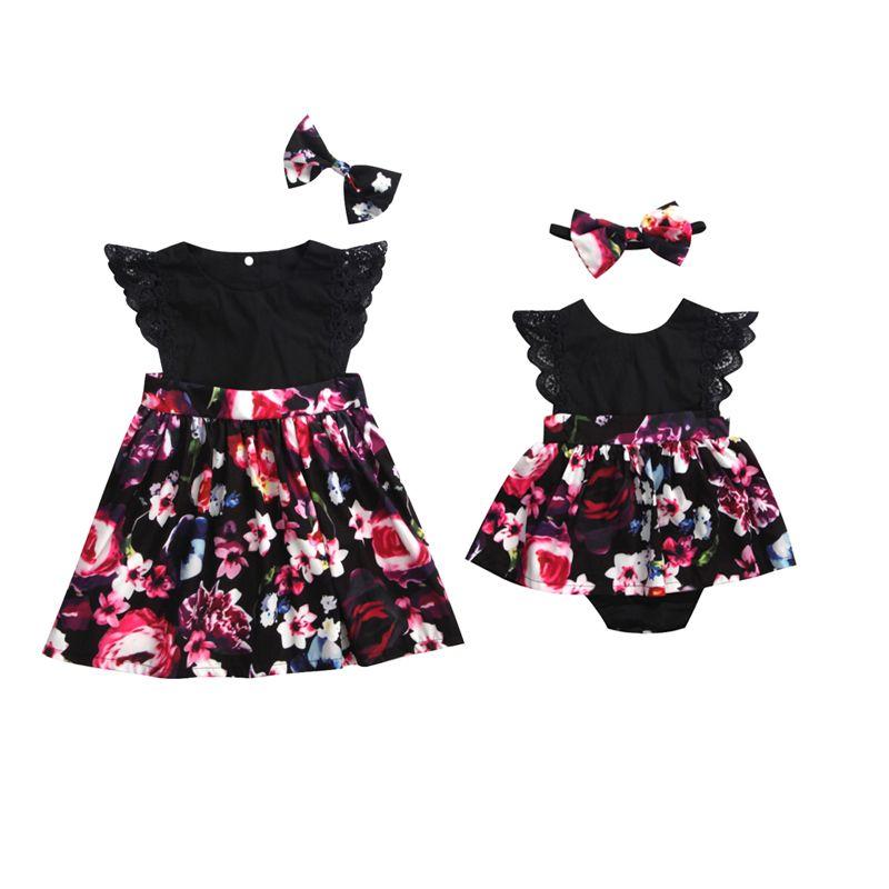 bb197f7d256cc 2018 Fashion Cute Newborn Baby Girls Sister Family Matching Sets ...