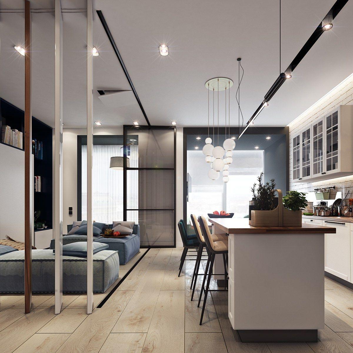 Design Project of the Apartment in Zagreb (13 sq.m.)  Design