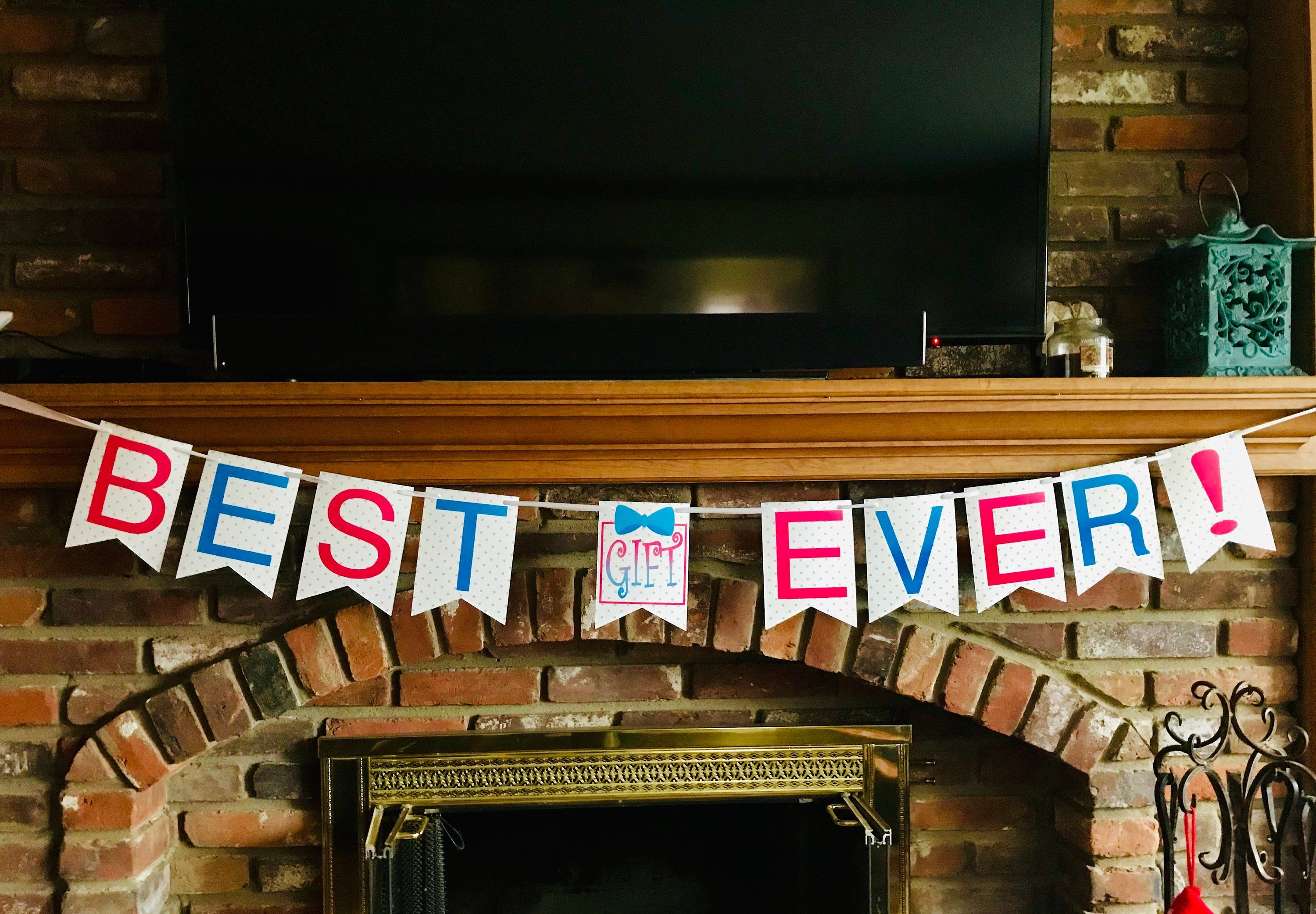 BEST GIFT EVER! Gender Reveal Party Banner (With images