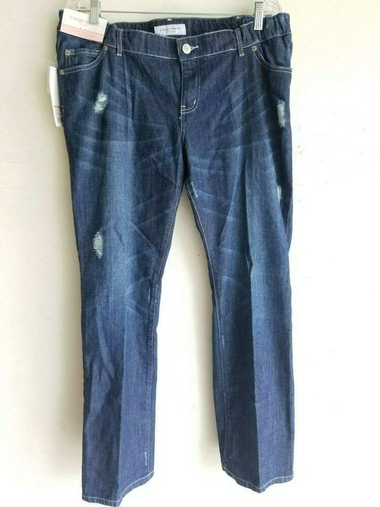 3ddc77971cf6a (Advertisement)eBay- LIZ LANGE Maternity Distressed Denim Jeans Size 10  Straight Leg NWT $29.99